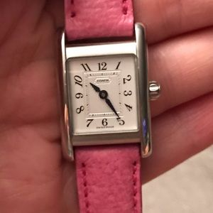 Coach Accessories - Coach Leather and Silver Watch
